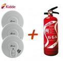 Pack sécurité incendie appartement T2 et F2 kidde