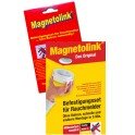 Magnetolink magnetic support for smoke detector