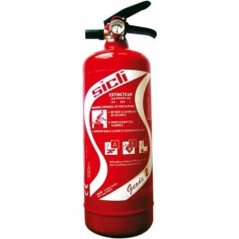 ABC polyvalent powder extinguishers has 1Kg SICLI